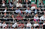 05.06.13, Leipzig, Red Bull Arena, GER, Abschiedsspiel Michael Ballack, Ciao MB <br /> im Bild  u.a. Reiner Calmund, Wolfgang Niersbach (DFB), Oliver Bierhoff, Bundestrainer Joachim L&ouml;w, Boris Becker, G&uuml;nther Netzer und Uli Hoeness (Bayern M&uuml;nchen) auf der Trib&uuml;ne <br /> <br />  // during the match between Team Weltauswahl and Team Ballack &amp; Friends on 05.06.13   <br />   Foto &copy; nph / Hessland *** Local Caption ***