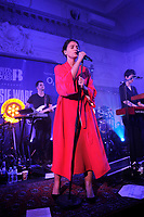 LONDON, ENGLAND - FEBRUARY 12: Jessie Ware performing for War Child at BRITs WEEK at Bush Hall on February 12, 2018 in London, England.<br /> CAP/MAR<br /> &copy;MAR/Capital Pictures