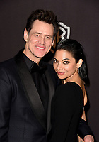 LOS ANGELES, CALIFORNIA - JANUARY 06: Jim Carrey and Ginger Gonzaga attend the Warner InStyle Golden Globes After Party at the Beverly Hilton Hotel on January 06, 2019 in Beverly Hills, California. <br /> CAP/MPI/IS<br /> &copy;IS/MPI/Capital Pictures