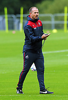 Pictured: Assistant coach Karl Halabi. Tuesday 11 July 2017<br /> Re: Swansea City FC training at Fairwood training ground, UK