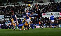 Ipswich Town's Dean Gerken saves an attempt at goal from Wigan Athletic<br /> <br /> Photographer Hannah Fountain/CameraSport<br /> <br /> The EFL Sky Bet Championship - Ipswich Town v Wigan Athletic - Saturday 15th December 2018 - Portman Road - Ipswich<br /> <br /> World Copyright © 2018 CameraSport. All rights reserved. 43 Linden Ave. Countesthorpe. Leicester. England. LE8 5PG - Tel: +44 (0) 116 277 4147 - admin@camerasport.com - www.camerasport.com