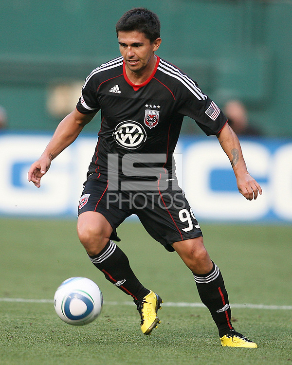 Jaime Moreno #99 of D.C. United during an Open Cup match against Real Salt Lake at RFK Stadium, on June 2 2010 in Washington DC. DC United won 2-1.