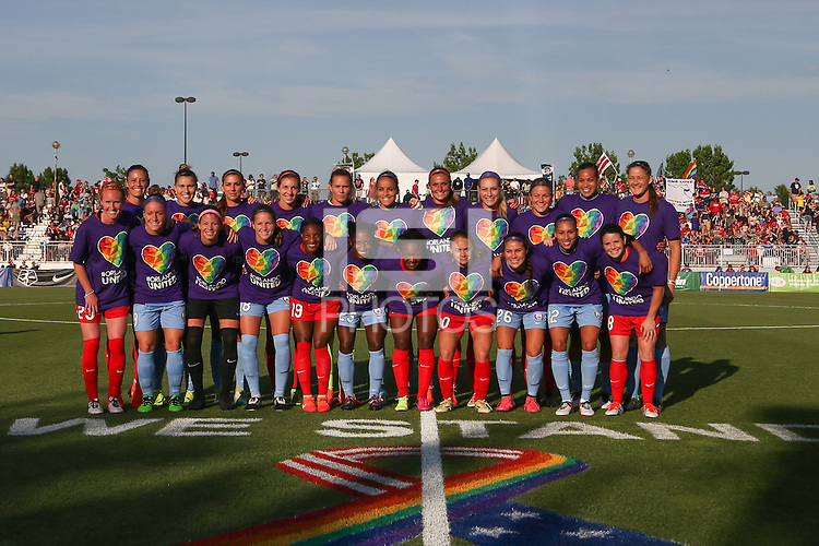 Boyds, MD - Saturday June 18, 2016: Washington Spirit, Orlando Pride  prior to a regular season National Women's Soccer League (NWSL) match between the Washington Spirit and the Orlando Pride at Maureen Hendricks Field, Maryland SoccerPlex.