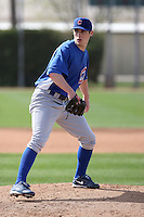 James Leverton of the Chicago Cubs participates in spring training workouts at the Cubs complex on March 6, 2011  in Mesa, Arizona. .Photo by:  Bill Mitchell/Four Seam Images.