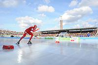 SCHAATSEN: AMSTERDAM: Olympisch Stadion, 02-03-2014, KPN NK Sprint/Allround, Coolste Baan van Nederland, Yvonne Nauta, ©foto Martin de Jong