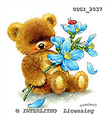 GIORDANO, CUTE ANIMALS, LUSTIGE TIERE, ANIMALITOS DIVERTIDOS, Teddies, paintings+++++,USGI2037,#AC# teddy bears