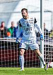 Uppsala 2014-05-01 Fotboll Svenska Cupen IK Sirius - IF Elfsborg :  <br /> Sirius m&aring;lvakt Jonas Bylund reagerar<br /> (Foto: Kenta J&ouml;nsson) Nyckelord:  Svenska Cupen Cup Semifinal Semi Sirius IKS Elfsborg IFE portr&auml;tt portrait arg f&ouml;rbannad ilsk ilsken sur tjurig angry