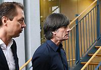 Bundestrainer Joachim Loew (Deutschland Germany) mit Mediendirektor Ralf Koettker - 15.03.2019: Pressekonferenz der Deutschen Nationalmannschaft, DFB Zentrale Frankfurt