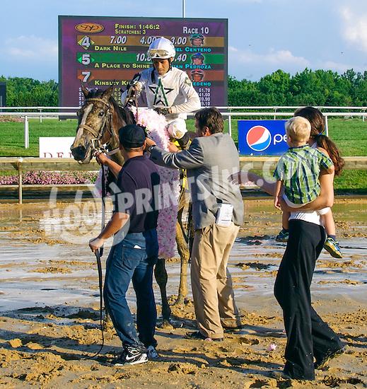 Dark Nile winning The Delaware Oaks (gr 3) at Delaware Park on 7/9/16