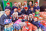 Currow NS pupils with some of the large number of parcels full of presents that the children are donating to the Team Hope shoebox appeal front row l-r: Darragh Kelly, Clodagh Coffey, Leah Kelly, Alanna Kelly, Charlie Brosnan. Middle row: Ben Brosnan, Harry Crowley, Saoirse Daly, Aoife Fleming, Elaine Cronin. Back row: Freddie Galwey, Eamon O'Mahony, Mia Key, Julia Curtin, Hilary O'Connor and Cathal Brosnan