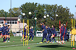 14 October 2014: The United States Women's National Team held a training session on the stadium field at Swope Park Soccer Village in Kansas City, Missouri in preparation for the CONCACAF Women's World Cup Qualifying Tournament for the 2015 Women's World Cup in Canada.