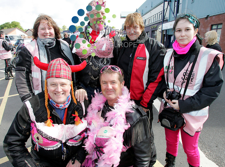 The bikers got into the spirit of the event as most of the riders wore pink and other things