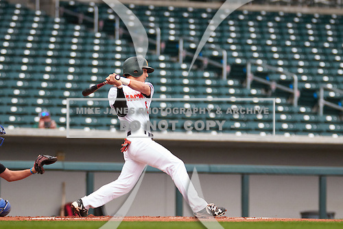 Trey Zahursky (6) of Capuchino High School in Millbrae, California during the Under Armour All-American Pre-Season Tournament presented by Baseball Factory on January 14, 2017 at Sloan Park in Mesa, Arizona.  (Freek BouwMike Janes Photography)