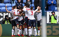 Bolton Wanderers' Pawel Olkowski celebrates scoring his side's first goal <br /> <br /> Photographer Andrew Kearns/CameraSport<br /> <br /> The EFL Sky Bet Championship - Bolton Wanderers v Millwall - Saturday 9th March 2019 - University of Bolton Stadium - Bolton <br /> <br /> World Copyright © 2019 CameraSport. All rights reserved. 43 Linden Ave. Countesthorpe. Leicester. England. LE8 5PG - Tel: +44 (0) 116 277 4147 - admin@camerasport.com - www.camerasport.com