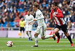 Real Madrid CF's Luka Modric and Athletic Club de Bilbao's Beñat Etxeberria during La Liga match. April 21, 2019. (ALTERPHOTOS/Manu R.B.)