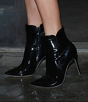 NEW YORK, NY - FEBRUARY 7: Close up of Charlotte McKinney's shoes after an appearance on Good Day NY in New York City on February 07, 2018. Credit: RW/MediaPunch