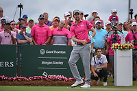 Webb Simpson (USA) watches his tee shot on 1 during round 4 of The Players Championship, TPC Sawgrass, at Ponte Vedra, Florida, USA. 5/13/2018.<br /> Picture: Golffile | Ken Murray<br /> <br /> <br /> All photo usage must carry mandatory copyright credit (&copy; Golffile | Ken Murray)