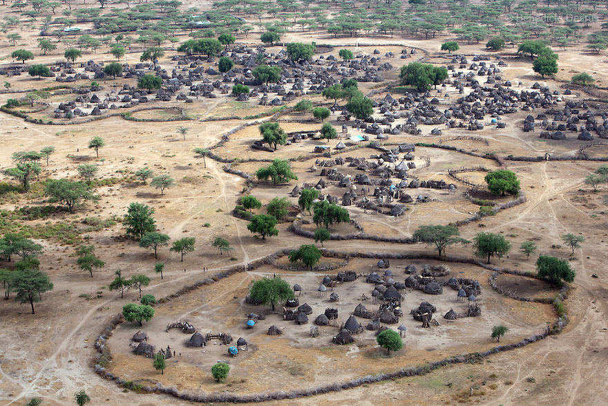 11 december 2010 - Riwoto, Eastern Equatoria, South Sudan - Aerial view of Riwoto, Eastern Equatoria, South Sudan. Photo credit: Benedicte Desrus