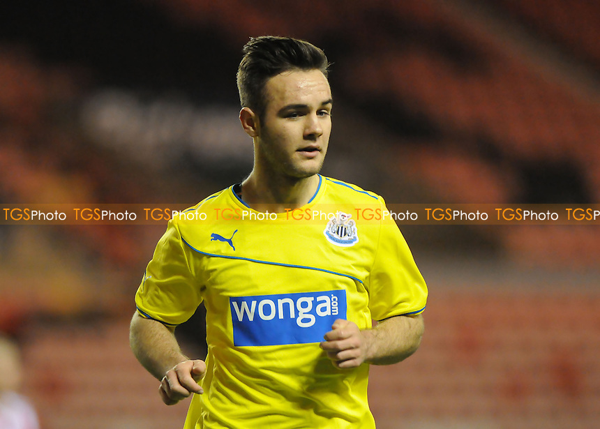 Adam Armstrong of Newcastle United - Sunderland Under-21 vs Newcastle United Under-21 - Barclays Under-21 Premier League Football at the Stadium of Light, Sunderland - 03/02/14 - MANDATORY CREDIT: Steven White/TGSPHOTO - Self billing applies where appropriate - 0845 094 6026 - contact@tgsphoto.co.uk - NO UNPAID USE