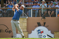 Brian Harman (USA) watches his tee shot on 16 during day 2 of the Valero Texas Open, at the TPC San Antonio Oaks Course, San Antonio, Texas, USA. 4/5/2019.<br /> Picture: Golffile | Ken Murray<br /> <br /> <br /> All photo usage must carry mandatory copyright credit (© Golffile | Ken Murray)