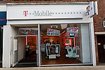 T Mobile shop. High street shops and shopping,  January 2009, Lowestoft, Suffolk, England