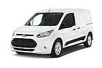 2015 Ford Transit Connect XLT 4 Door Car Van Angular Front stock photos of front three quarter view