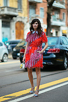 Valentina Siragusa at Milan Fashion Week (Photo by Hunter Abrams/Guest of a Guest)