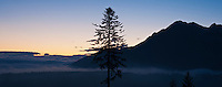 Dawn silhouette of Tatra mountains, Poland