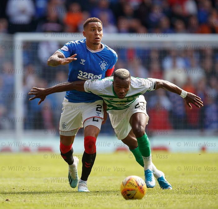 01.09.2019 Rangers v Celtic: James Tavernier and Boli Bolingoli