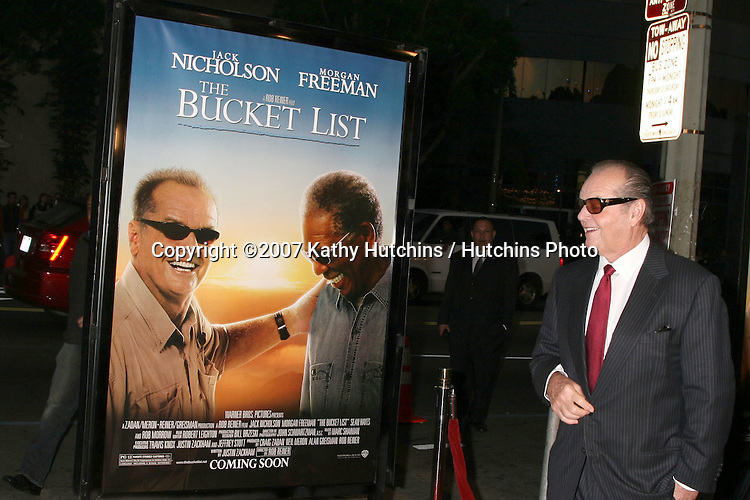 "Jack Nicholson.""Bucket List"" Premiere.ArcLight Cinerama Dome.December 16, 2007.Los Angeles, CA.©2007 Kathy Hutchins / Hutchins Photo..."