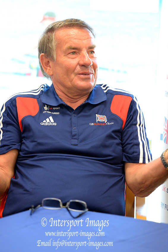 Caversham, Great Britain, GBR Coach, Jürgen GROBLER. GB Rowing media day, 2013 World Cup Team Announcement  at the Redgrave Pinsent Rowing Lake. GB Rowing Training centre. Wednesday  05/06/2013  [Mandatory Credit. Peter Spurrier/Intersport Images]