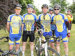 Eugene McCabe, Alex McDonnell, Derek Lynch and Richie McMullen who took part in the annual Dromin charity cycle. Photo:Colin Bell/pressphotos.ie