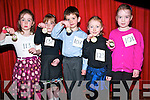 Dennehy School of Dancing CLass Feis; Pictured at the Dennehy School of Dancing class feis at the Ceolan , Lixnaw on Sunday last were the U/6 Reel dancers. L - R : Kayla walsh, Aoibheen Dennehy, Ronan Kelly, Kelly Forristal & Aoife Meehan.