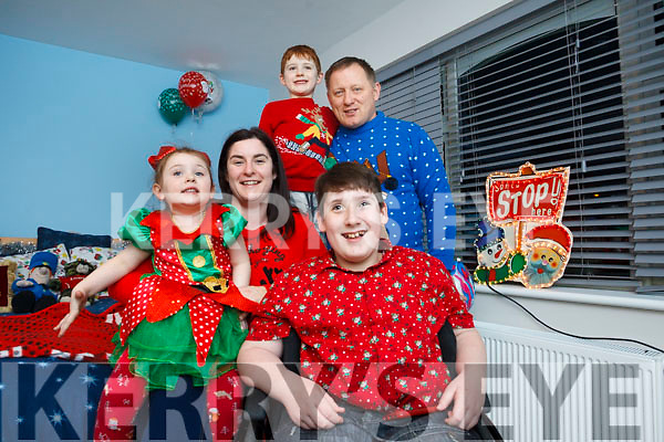 Tiernan Dineen and his family, mom Lorraine and dad Michael, with his sister Saoirse and brother Cuan.