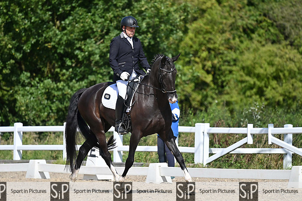 Stapleford Abbotts. United Kingdom. 08 September 2019. Class 5. British dressage. Brook Farm training centre. Essex. UK.~ 08/09/2019.  MANDATORY Credit Garry Bowden/Sport in Pictures - NO UNAUTHORISED USE - 07837 394578