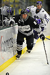 30 December 2007: Western Michigan University Broncos' right wing forward Patrick Galivan, a Junior from Oak Park, IL, in action against the Holy Cross Crusaders at Gutterson Fieldhouse in Burlington, Vermont. The teams skated to a 1-1 tie, however the Broncos took the consolation game in a 2-0 shootout to win the third game of the Sheraton/TD Banknorth Catamount Cup Tournament...Mandatory Photo Credit: Ed Wolfstein Photo