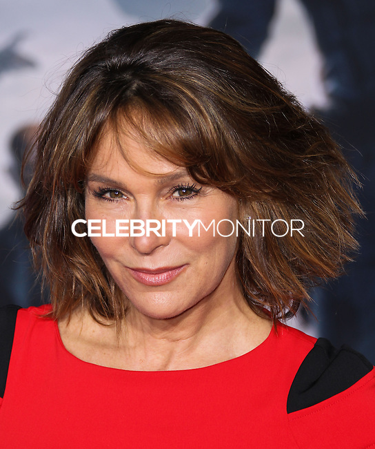 "HOLLYWOOD, LOS ANGELES, CA, USA - MARCH 13: Jennifer Grey at the World Premiere Of Marvel's ""Captain America: The Winter Soldier"" held at the El Capitan Theatre on March 13, 2014 in Hollywood, Los Angeles, California, United States. (Photo by Xavier Collin/Celebrity Monitor)"