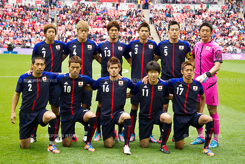 U-23U-23 Japan National team group line-up (JPN), .AUGUST 7, 2012 - Football / Soccer : .Men's semifinal between Japan 1-3 Mexico at Wembley Stadium during the London 2012 Olympic Games in London, UK.  . (Photo by Enrico Calderoni/AFLO SPORT) [0391]
