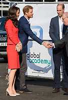 HAYES, UNITED KINGDOM - APRIL 20: Catherine, Duchess of Cambridge, Prince Harry &amp; William, Duke of Cambridge attends the official opening of The Global Academy in support of Heads Together on April 20, 2017 in Hayes, England. <br /> CAP/JOR<br /> &copy;JOR/Capital Pictures
