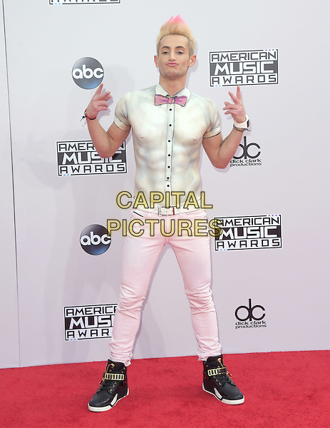 Frankie J. Grande at The 2014 American Music Award held at The Nokia Theatre L.A. Live in Los Angeles, California on November 23,2014                                                                                <br />