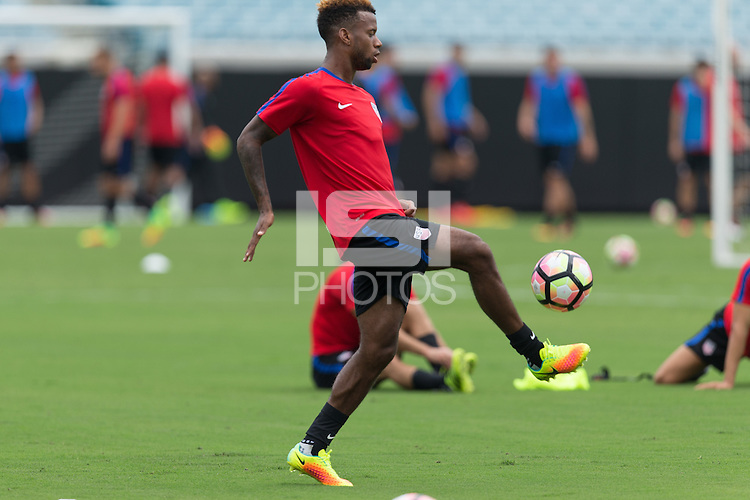 Jacksonville, FL - September 4, 2016: The U.S. Men's National team train ahead of its World Cup Qualifying (WCQ) match versus Trinidad and Tobago at EverBank Field.
