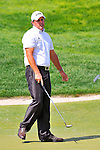 27 August 2009: Phil Mickelson reacts to a missed putt during the first round of The Barclays PGA Playoffs at Liberty National Golf Course in Jersey City, New Jersey.