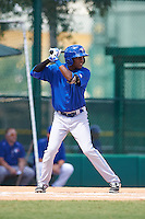 Toronto Blue Jays Reggie Pruitt (4) during an instructional league game against the Atlanta Braves on September 30, 2015 at the ESPN Wide World of Sports Complex in Orlando, Florida.  (Mike Janes/Four Seam Images)
