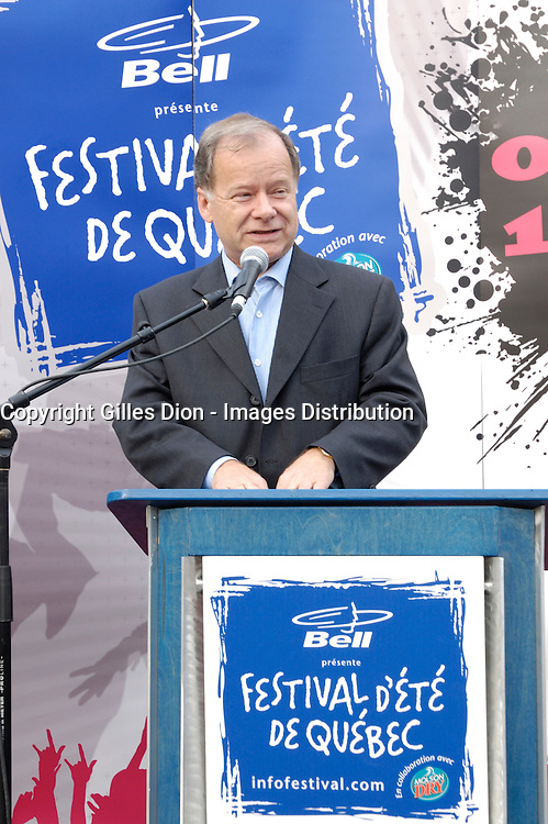 Quebec (Qc) CANADA, July 2007-<br /> <br /> Raymond Bachand ,<br /> Official opening of<br />  the Festival d'ete de Quebec 2007, in Quebec City.