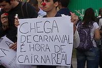 SAO PAULO 17 DE JUNHO DE 2013  - Manifestantes do Passe Livre se reunem para mais um protesto contra a tarifa de onibus na tarde desta segunda feira (17) no Largo da Batata.(Foto: Amauri Nehn/Brazil Photo Press)