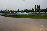 02 June 2010: View of the AVG Arena as the first game of the 2010 Baseball European Cup in Brno, Czech Republic, is canceled due to a rainout.
