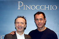 Roberto Benigni and film director Matteo Garrone<br /> Rome December 12th 2019. Pinocchio Photocall in Rome<br /> Foto Samantha Zucchi Insidefoto