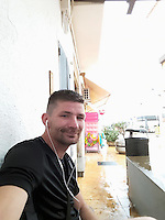 Pictured: Lukasz Robert Pawlowski, image found on open social media page<br /> Re: A man has cut his throat in the dock at Haverfordwest Magistrates' Court as he waited to be sentenced for a sex attack.<br /> Lukasz Robert Pawlowski, 33, had pleaded guilty to sexual assault by grabbing and kissing a shop assistant.<br /> Pawlowski, of Bush Street, Pembroke Dock, was appearing for sentence at the Pembrokeshire court when the incident happened.<br /> He has been taken to a Swansea hospital by air ambulance.<br /> Following the incident, an emergency call was made from the court at 10:20 GMT.<br /> It is unclear where and how Pawlowski gained access to the weapon.<br /> It is understood he lost consciousness and a lot of blood after the incident, but is now awake and is receiving medical treatment.