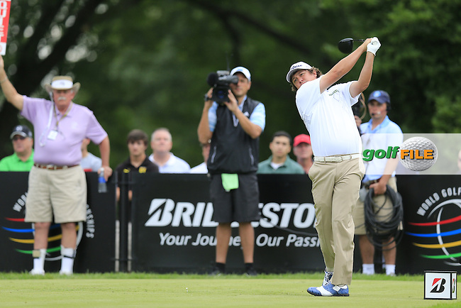 Jason Dufner (USA) tees off the 14th tee during Friday's Round 1 of the 2013 Bridgestone Invitational WGC tournament held at the Firestone Country Club, Akron, Ohio. 2nd August 2013.<br /> Picture: Eoin Clarke www.golffile.ie