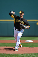 Pittsburgh Pirates pitcher A.J. Burnett (34) during a Spring Training game against the Boston Red Sox on March 12, 2015 at McKechnie Field in Bradenton, Florida.  Boston defeated Pittsburgh 5-1.  (Mike Janes/Four Seam Images)